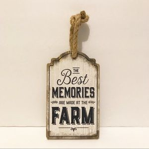 NWT rustic/farmhouse distressed wood hanging sign